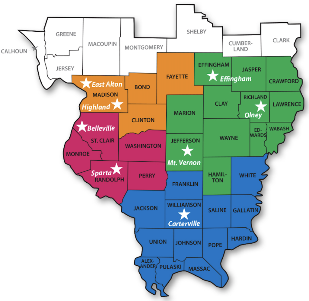 caritas family solutions location map